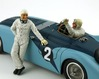 Bugatti 57G with the two figurines of drivers