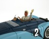 Bugatti 57G with painted driver figurine